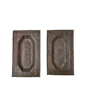 Coppia di antichi elemosinieri da Samarkanda - O/1655