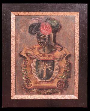 "Dipinto raffigurante ""Stemma nobiliare"" sec.XVIII"