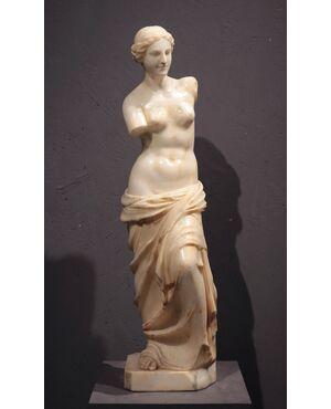 """Scultura in alabastro """"La venere di Milo"""", sec. XX"""