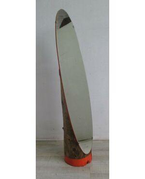 Specchio da terra vintage - modernariato - ricavato da tronco - anni 50 60