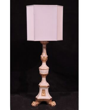 Candeliere bianco e oro, Toscana, Sec.XVIII
