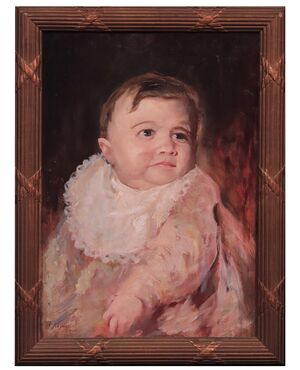 Giuseppe Mascarini (1877- 1954)- Ritratto di Bambina