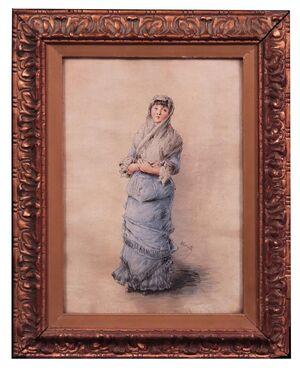 Dipinto Firmato Morelli: Ritratto di Dama '800