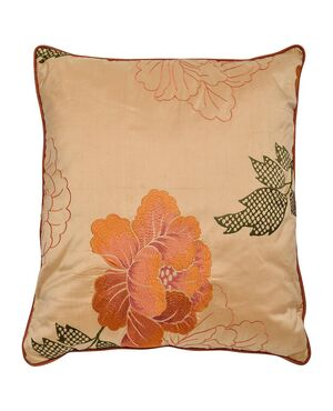 Cuscino in seta con splendido ricamo - B/2426