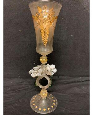 Tipetto veneziano in vetro di Murano