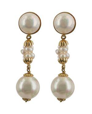 Orecchini con perle montati in oro - G/152