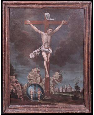 """Dipinto: """"La redenzione dell'uomo"""" sec. XVIII"""