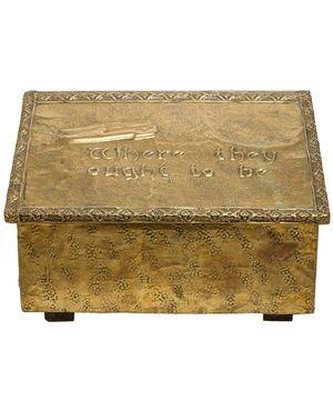 Cassetta antica inglese porta-ciabatte - O/5574