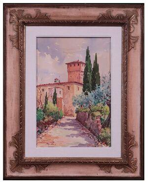 Giovanni Ospitali (Bologna 1927) - Paesaggio Toscano