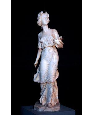 """Scultura in alabastro: """"La Legge"""", Sec. XX"""