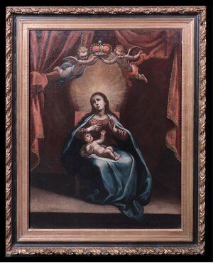Astolfo Petrazzi (Siena 1580-1653) - Madonna con Bambino