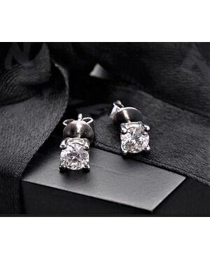 Orecchini  in  Platino  con  Diamanti 1  ct. in totale.