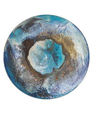"""Grande piatto da parete in ceramica """"raku"""" O/5476"""