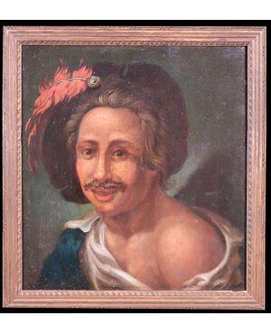 """Dipinto fiammingo: """"Ritratto"""", fine '800"""