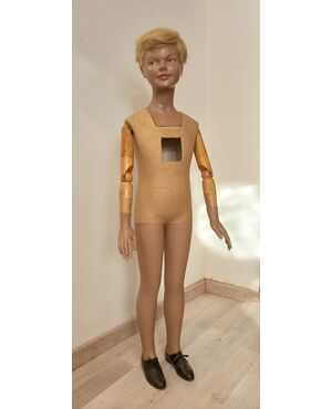 Particolare manichino bambino vintage anni 50 60 - modernariato gesso e legno