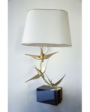 Lampada scultura da tavolo anni '70