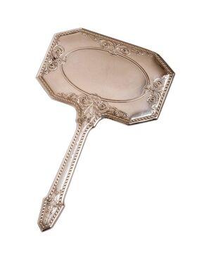 Antica specchiera in argento con manico A/2987