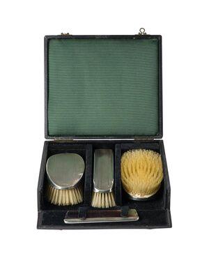 Set di 4 spazzole inglesi in argento  - A/2950