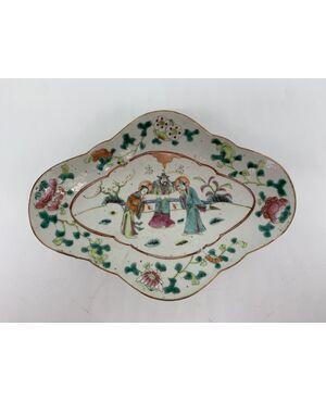 Vassoio in porcellana cinese di Nanchino - Fine Ottocento