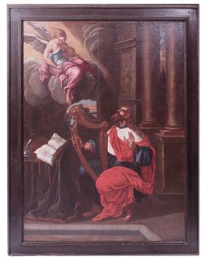 Dipinto: David con angelo