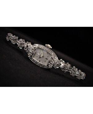 """Bracciale  -  orologio   """" HAMILTON """"  con  Diamanti  per  1 ct."""