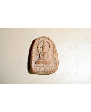 PLACCA IN TERRACOTTA DI BUDDHA