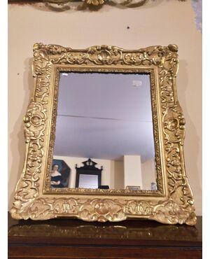 Specchiera in foglia oro zecchino epoca Luigi XV Francia