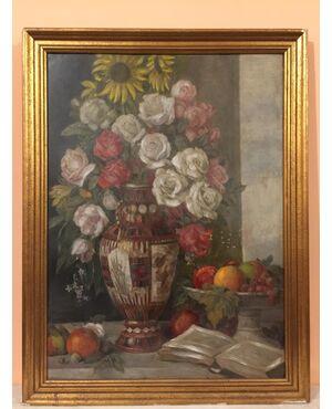 Dipinto olio su tavola firmato Victor Muller Garanta