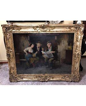 Dipinto olio su tela firmato dall'artista