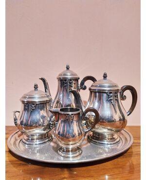 Servizio da tè o caffè in silver plate epoca Art Decò Francia