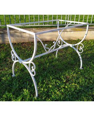 Base per tavolo in ferro battuto cm 60x100