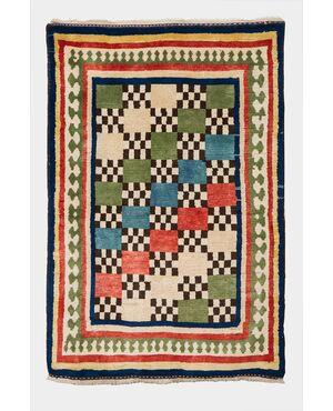 Vecchio tappeto nomadi Gashgai (Kaskai) policromo - n.826