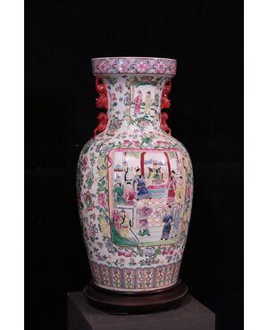 Grande vaso in porcellana, Cina, Sec. XX
