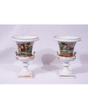 Coppia di vasi Impero, Francia, XIXsecolo