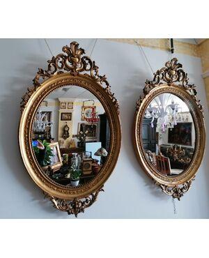 Coppia cornici antiche con specchio