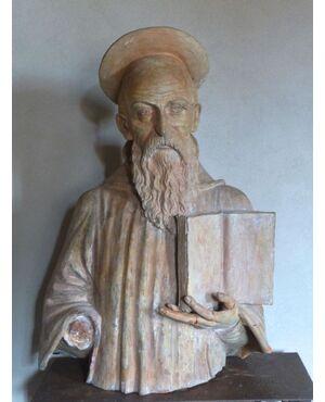 Busto Santo in terracotta