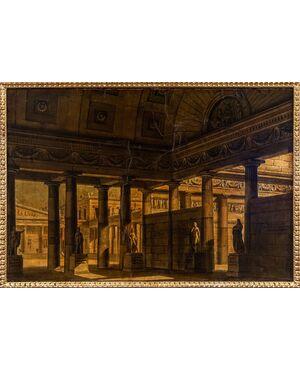 Alessandro Sanquirico (1777 - 1849), Veduta su interno cittadino dell'antica Grecia