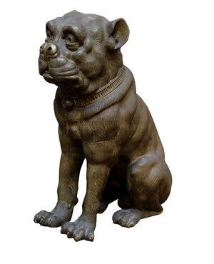 Bulldog in bronzo, Manifattura austriaca del XIX secolo