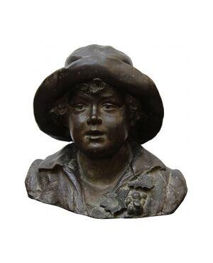Bambino con cappello, Tommaso Campajola (Attivo a Napoli tra il XIX e il XX secolo)