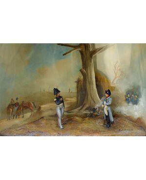 Diorama: Napoleone ad Austerlitz, XIX secolo