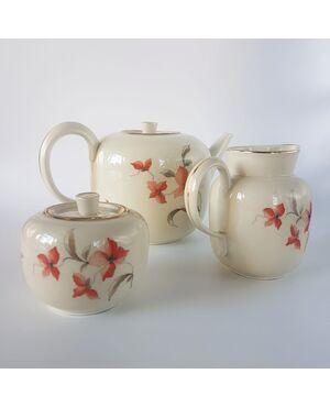 Servizio da thè porcellana manifattura Ginori, anni '30-'40
