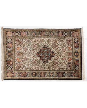 Tappeto persiano GHUM o KUM in pura seta - n.150
