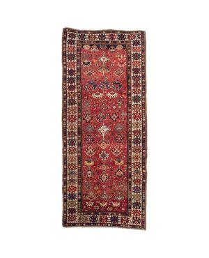 Antico tappeto caucasico KAZAK firmato e datato - n.1397