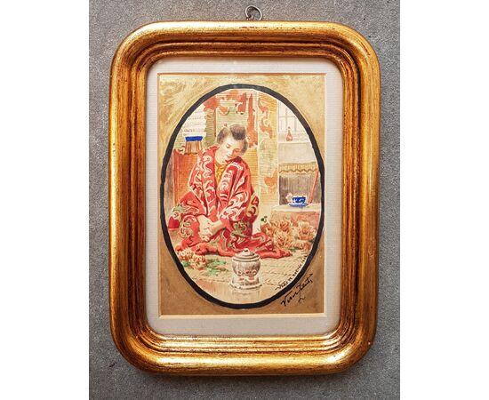 "Veress Zoltan - ""Geisha che serve il tè"""