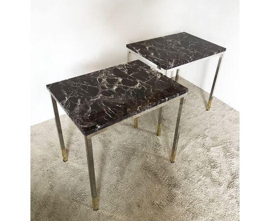 Tavolini Vintage - marmo rosso levanto